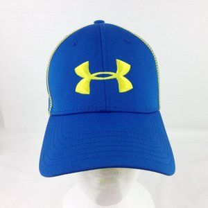 Under Armour Huddle Stretch Cap Hat Blue Yellow